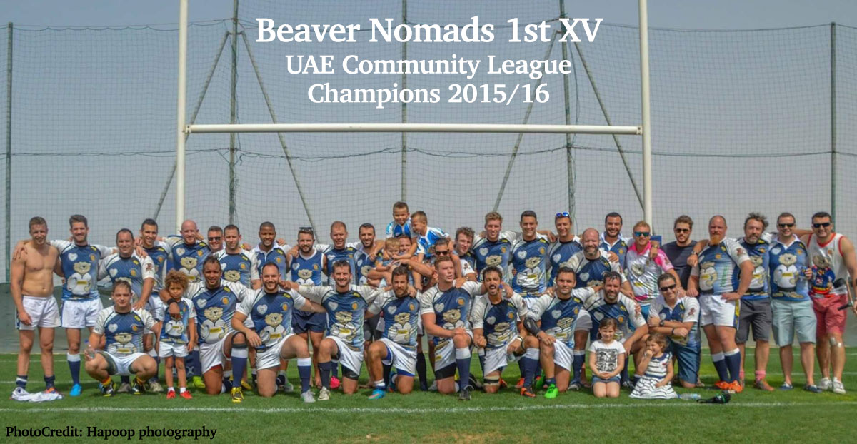 Beaver Nomads UAE Community League Rugby Champions 2015-2016