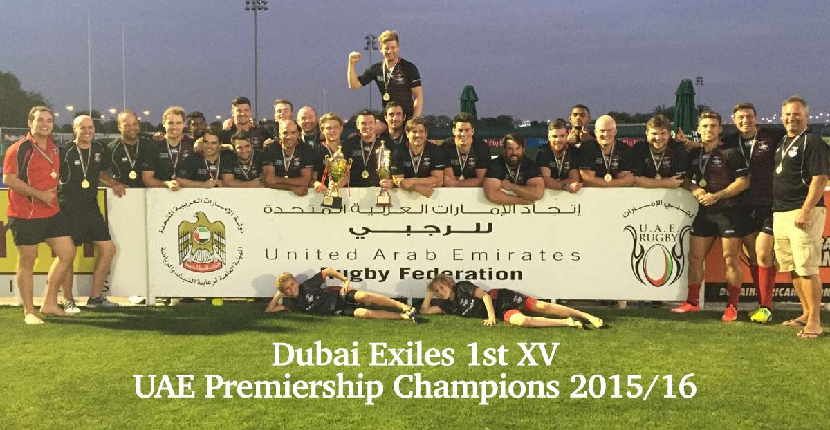 Dubai Exiles UAE Premiership Champions 2015-2016