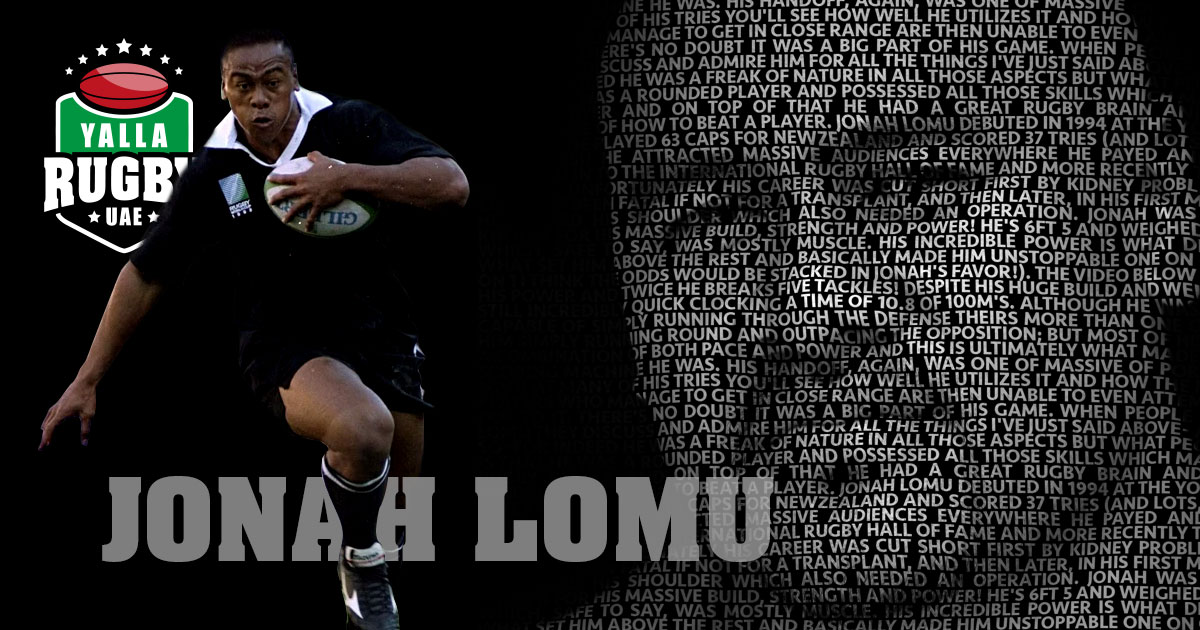 Jonah Lomu, Rugby legend in Dubai training with UAE squad