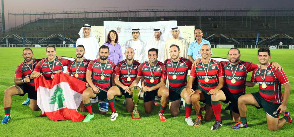 Lebanon UAE rugby Dubai Airports International 7's winners