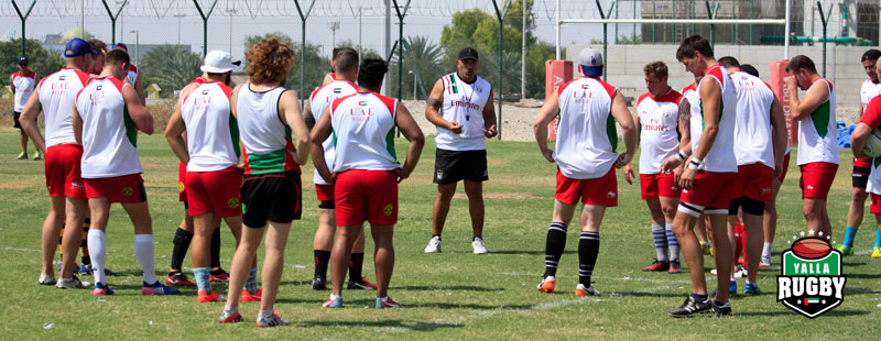 Asia Rugby Division One Championship rugby training with Apollo Perelini