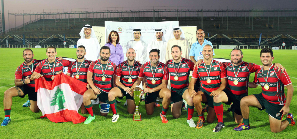Lebanon UAE rugby Dubai Airports International 7's winners