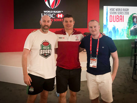 Alex Johnson Brian O'Driscoll Huw Harrow