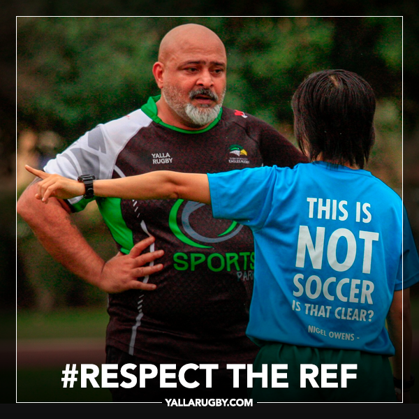 Respect the referee rugby meme